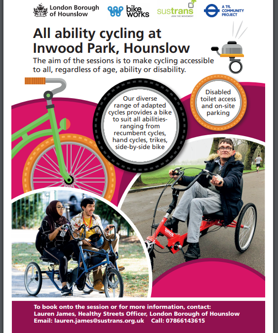 Free All Ability Adapted Cycling Sessions