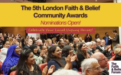 Nominations for the 5th London Faith & Belief Community Awards are now open!
