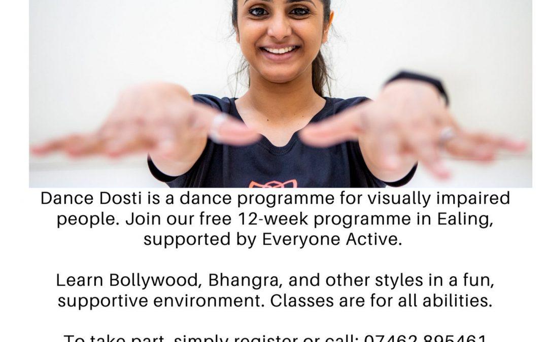 DANCE DOSTI: Seeking Volunteers: Dance for Visually Impaired People